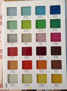 Nhà phân phối Ngọc sơn, đã lên công thức chuẩn cho các bảng màu, phục vụ tốt nhất cho các đơn vị thi công sơn kính.